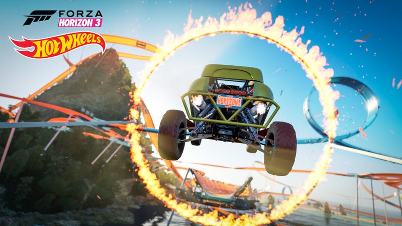 Illustration for article titled Horizon 3 Hot Wheels Expansion Preview Stream