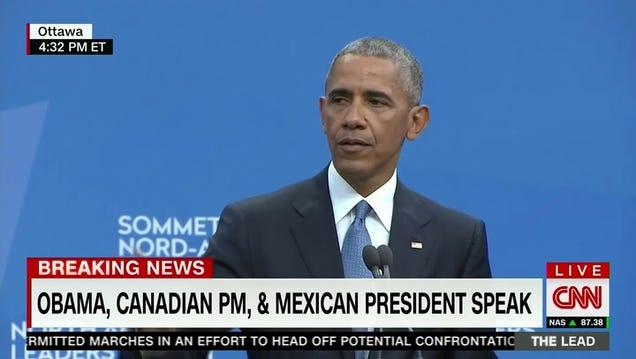 """Obama: Trump's """"Us Versus Them"""" Rhetoric Isn't Populism, """"That's Nativism"""""""