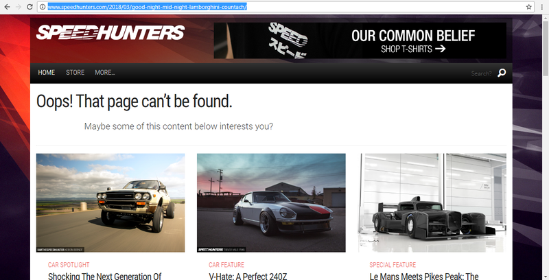 Illustration for article titled Speedhunters took down the Mid Night Lamborghini crash article