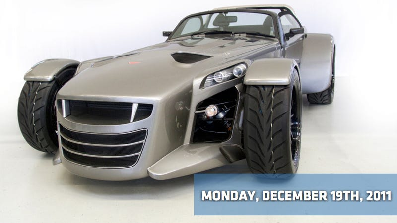 Illustration for article titled Saab files for bankruptcy, the 2013 Chevy Sonic RS, and the delicious Donkervoort D8 GTO