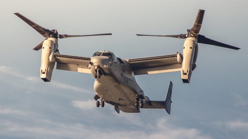 Illustration for article titled What It's Like To Fly In The Military's Crazy V-22 Osprey