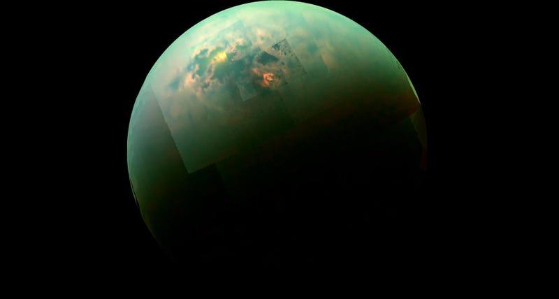 Imagen de Titán capturada por la sonda Cassini (vía: NASA/JPL).