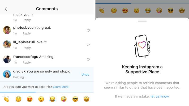 Illustration for article titled Instagram tiene el castigo perfecto para la gente que te insulta en los comentarios