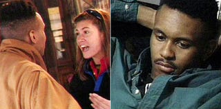 Kevin Powell argues with Julie Gentry on The Real World: New York; Powell on The Real World: New York (MTV)