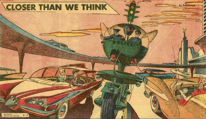 Illustration for article titled This Cop Car of the Future From 1958 Was Pretty Intimidating