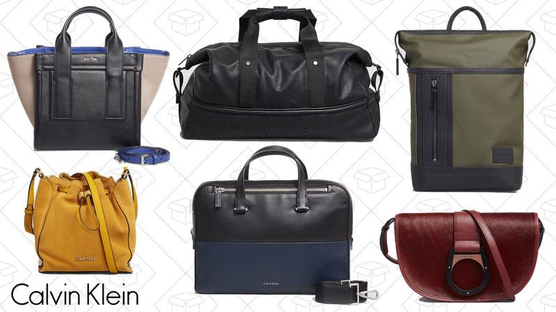 Illustration for article titled Calvin Klein is Taking an Extra 50% Off Bags for Men and Women