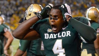 Illustration for article titled Baylor Upset Oklahoma And Isaac Williams's Head Almost Exploded
