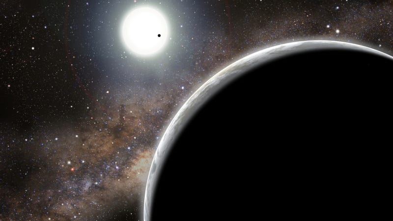 """Illustration for article titled Exoplanet's impossible orbit reveals """"invisible"""" companion"""