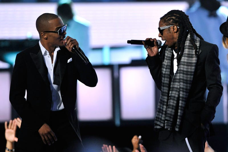 Rappers T.I. and Lil Wayne perform during the 51st Annual Grammy Awards at the Staples Center in Los Angeles on Feb. 8, 2009.Kevin Winter/Getty Images