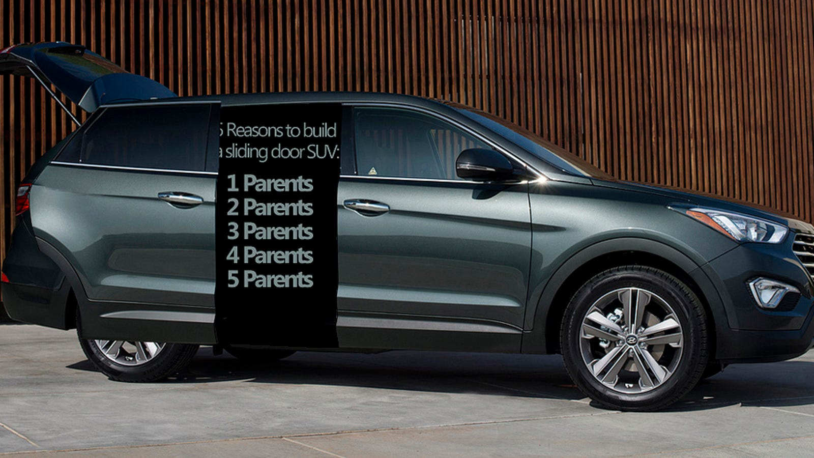 Parents Demand A Sport Utility With Rear Sliding Doors