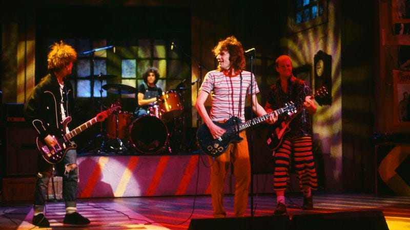 The Replacements blowing their sole turn on SNL, 1986 (Photo: Alan Singer/NBC/Getty Images)