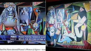 Illustration for article titled Fox Affiliate Blurs the Boobs on a Picasso Painting