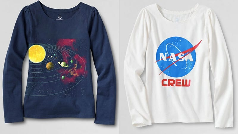 Illustration for article titled Land's End Introduces Adorable New Science T-Shirts Just for Girls