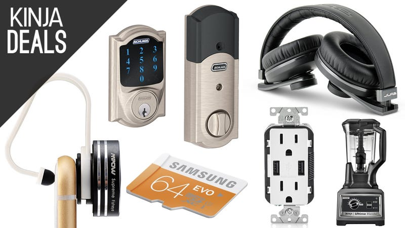 Illustration for article titled Today's Best Deals: Smart Locks, Phone Lenses, Power Outlets, and More
