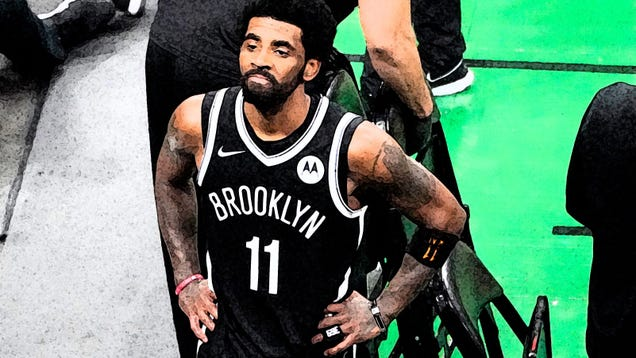 Kyrie is an agenda whether he likes it or not