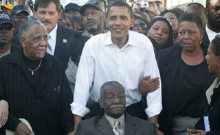 Then-Sen. Barack Obama marches in Selma, Ala., in 2007Scott Olson/Getty Images