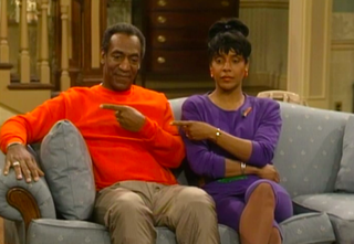 Bill Cosby and Phylicia Rashad as Cliff and Clair Huxtable on The Cosby ShowNBC UNIVERSALSCREENSHOT
