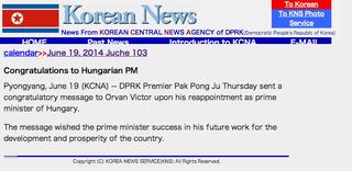 Illustration for article titled A Népi Demokratikus Korea miniszterelnöke gratulált Orbán Viktornak