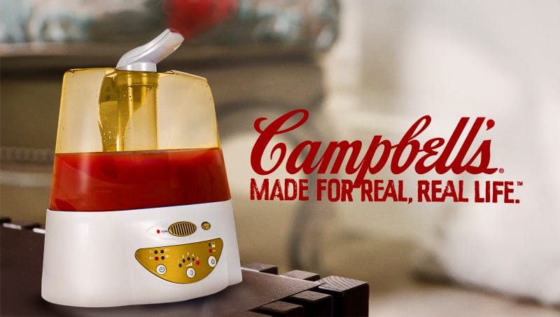 Illustration for article titled Campbell's Unveils New Tomato Soup Humidifier