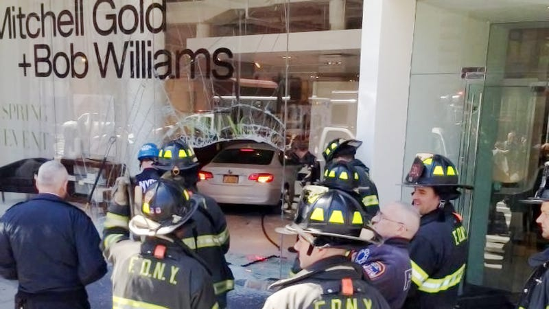 Illustration for article titled BMW Crashes Into SoHo Store, Most Premium Crash In NYC