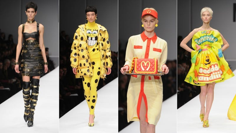 Illustration for article titled Moschino's Fall Collection Featured a High-Fashion McDonald's Uniform