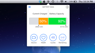 Battery Diag Is a Pretty, Informative Battery Monitor for Your MacBook