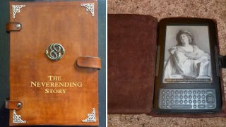 Illustration for article titled Handmade Leather Case Turns Your e-Reader Into a Neverending Story of Your Own