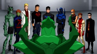 Illustration for article titled Green & Red Lanterns square off while Deathstroke appears on Young Justice