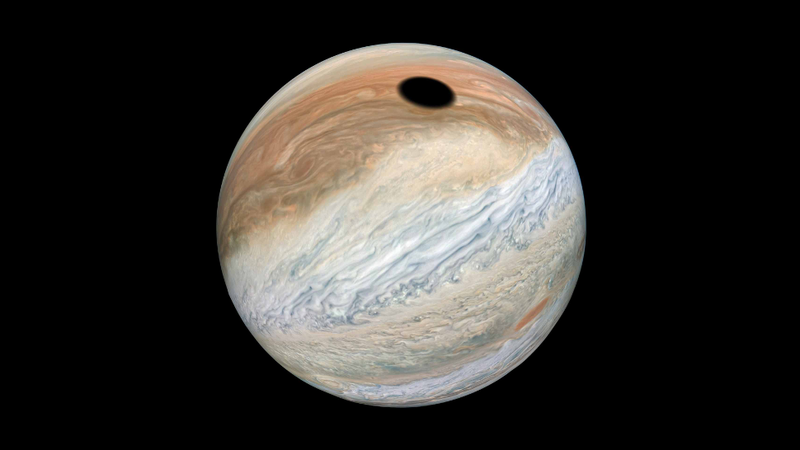 Spooky 'Black Hole' on Jupiter Is Just a Big Shadow