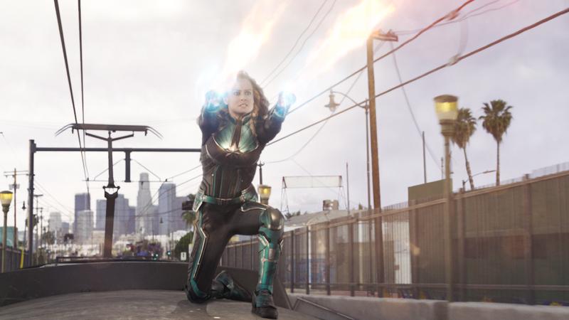 Captain Marvel, doing her thing.
