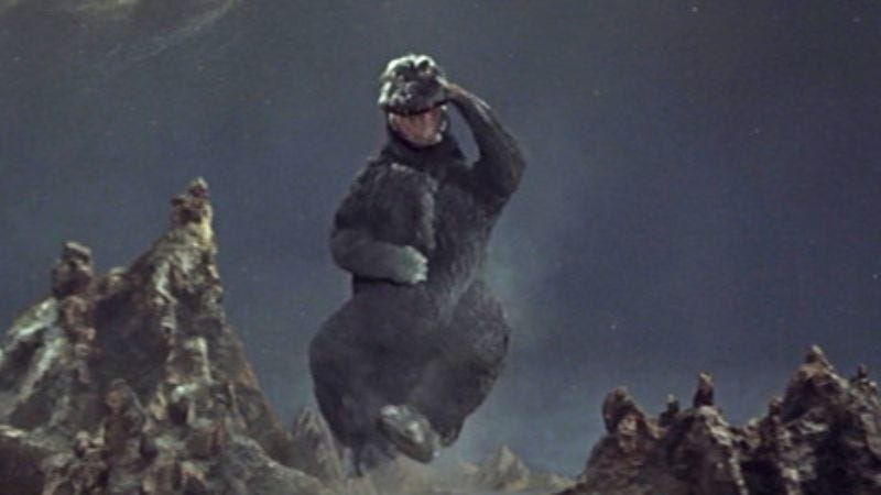 """Illustration for article titled Godzilla to stomp Tokyo for 96 hours straight on El Rey's """"Kaiju Christmas"""" marathon"""