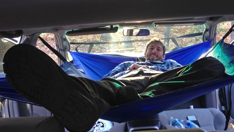 Illustration for article titled A Hammock for Your Car Gives You a Cheap Home If the Apocalypse Ever Comes