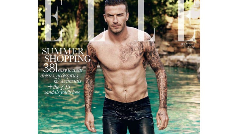 Illustration for article titled David Beckham Is the First Man to Make the Cover of British Elle