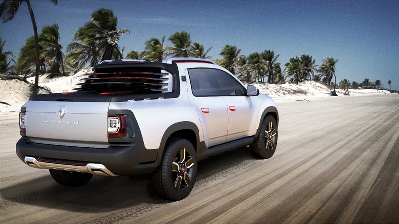 Illustration for article titled Brazil's Futuristic Pickup Truck Has Integrated GoPro-Style Cameras