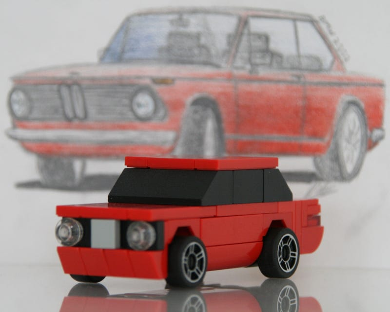 Illustration for article titled These Lego cars are small and perfect