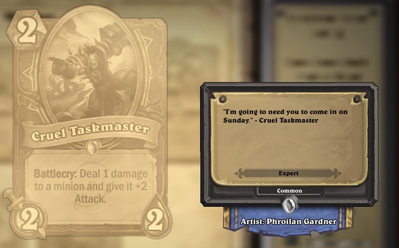 Illustration for article titled Hearthstone Cards Are Funnier Than You'd Expect