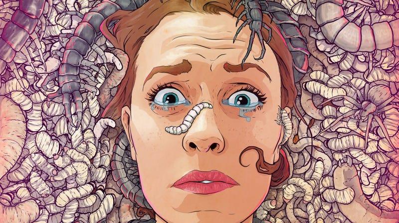 Parte de la imagen de Danny Luckert, inspirada en su mayor temor: los insectos.