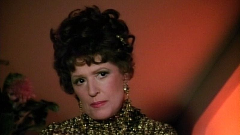 Majel Barrett as Lwaxana Troi in Star Trek: The Next Generation