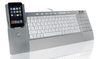 Illustration for article titled iHome's iConnect Keyboard Combines QWERTY and iPod Docking