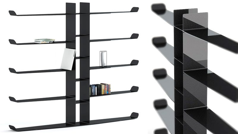 Illustration for article titled Carbon Fiber Bookshelves Are Novel Objects of Lust