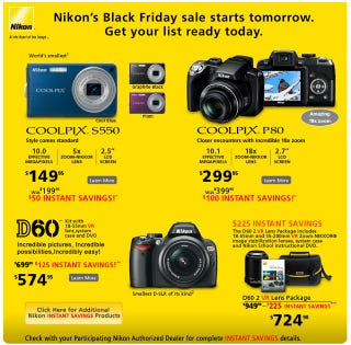 Illustration for article titled Nikon Black Friday Deals Surface