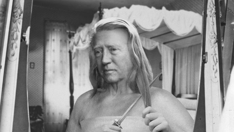 Georgia S. Patton cuts off her long locks with a knife to conceal her identity in order to serve as a four-star U.S. general during World War Two.