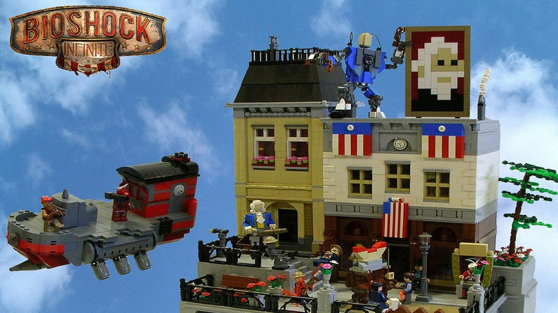 Illustration for article titled BioShock Infinite's Hideous Utopia Is Cuter When It's Made Of LEGO