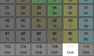 """Illustration for article titled Element """"Ununseptium"""" To Fill Periodic Table Gap"""