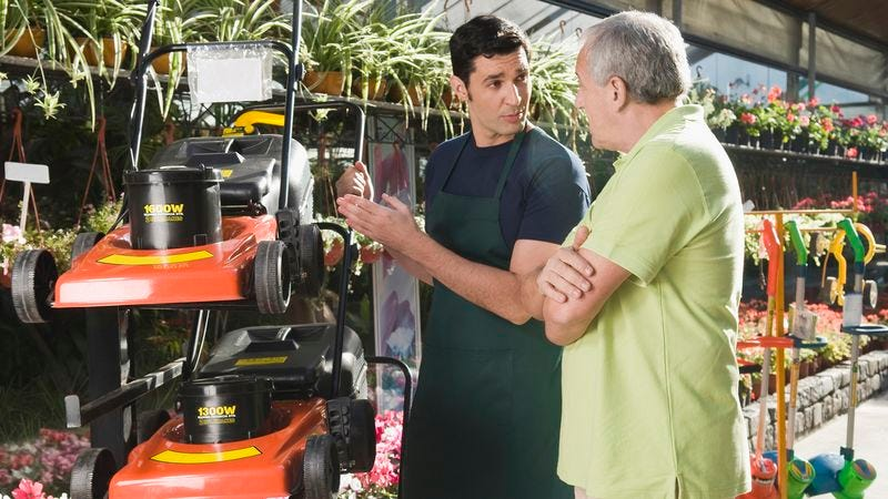Illustration for article titled Dad Locks Into Elaborate Chess Match With Lawn Mower Salesman