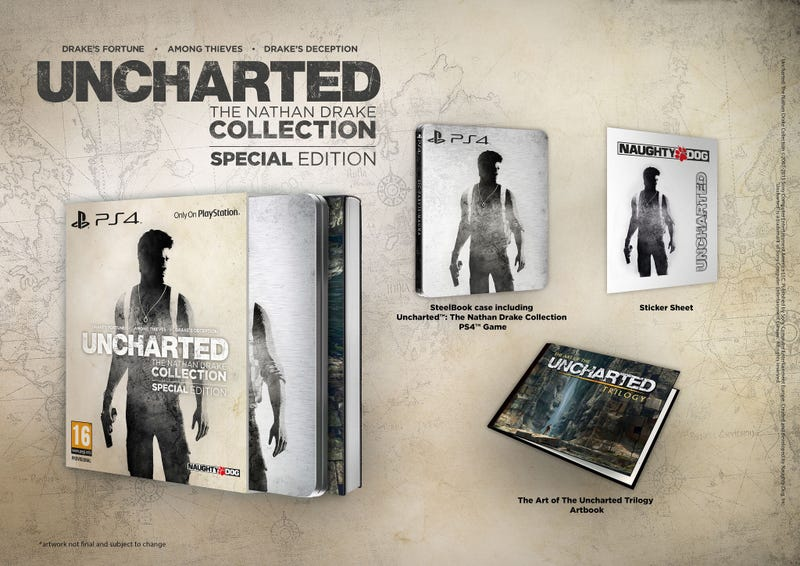 Illustration for article titled Uncharted: The Nathan Drake Collection Special Edition Revealed