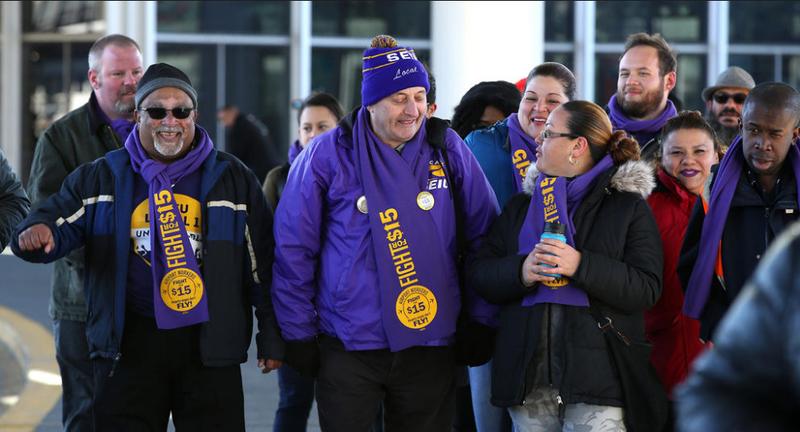 Fight for $15 has organized a strike at Chicago's O'Hare International Airport for Nov. 29, 2016.Chicago Tribune Screenshot