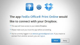 Illustration for article titled FedEx Now Lets You Print Documents from Dropbox, Google Drive, and Box