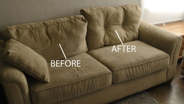 Plump Up Saggy Couch Cushions With Just A Few Buttons