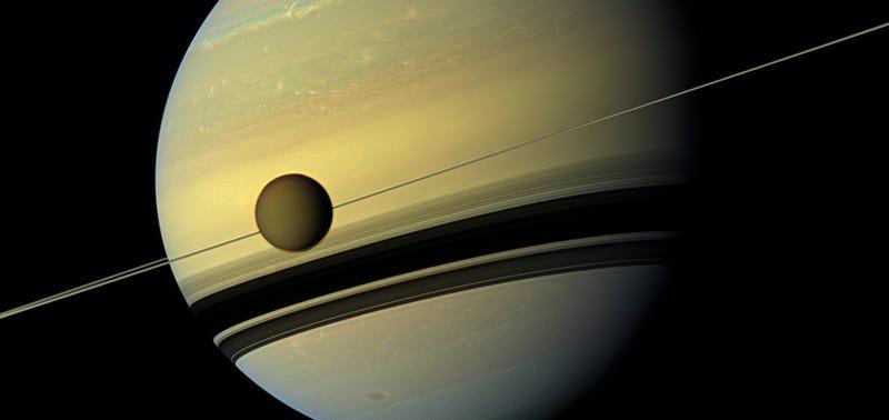 Illustration for article titled La NASA recrea la composición de la atmósfera de Titán